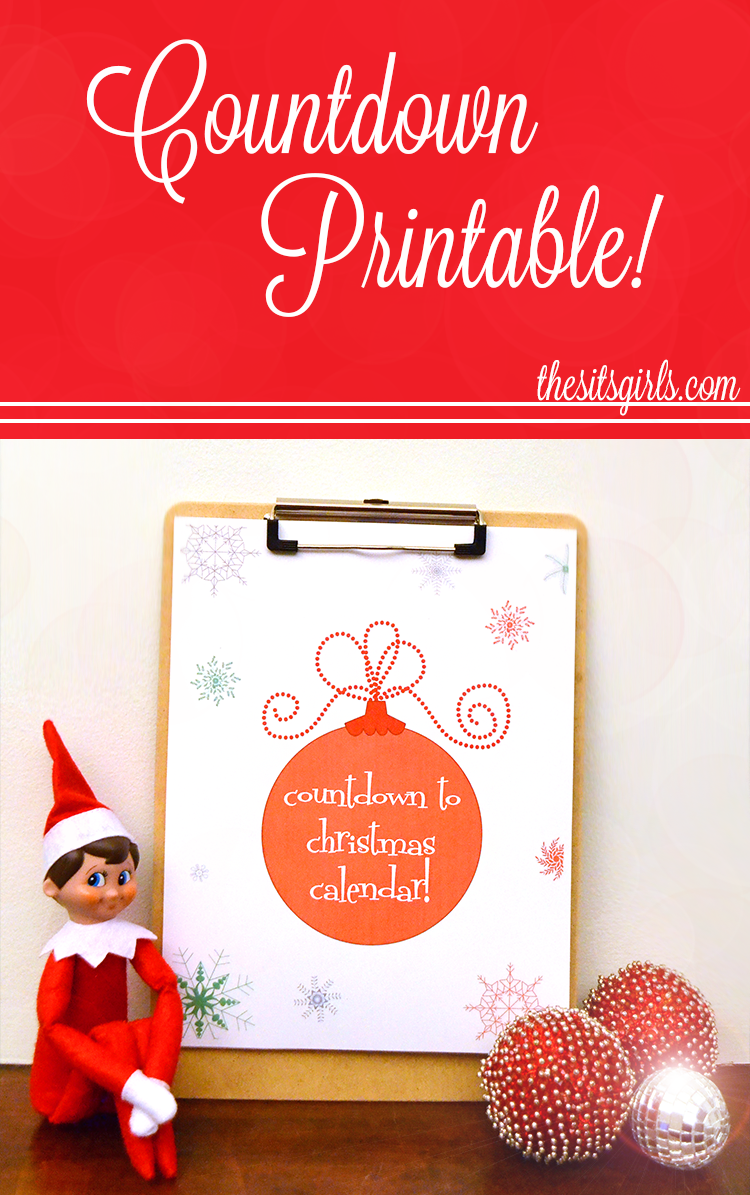 Christmas Countdown Printable | The SITS Girls