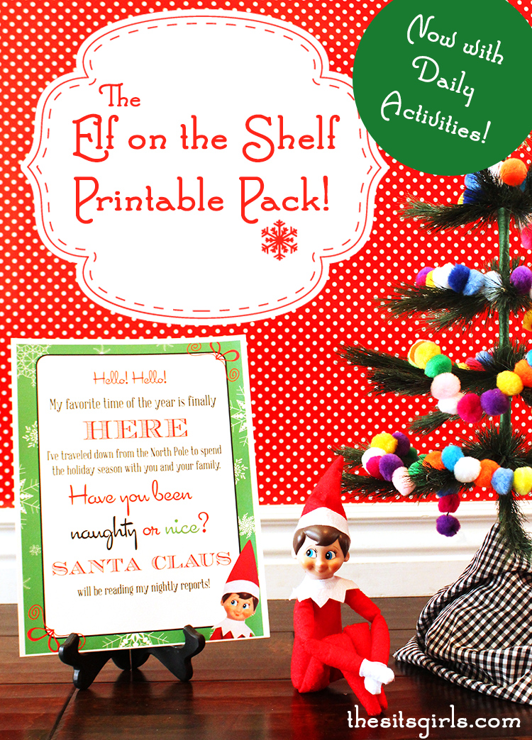 image regarding Elf on the Shelf Printable known as Elf Upon The Shelf Printables - The SITS Ladies