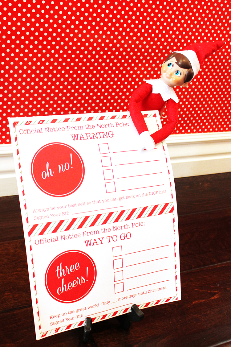 Has your child been naughty or nice? Here are Elf On The Shelf printables for either option.