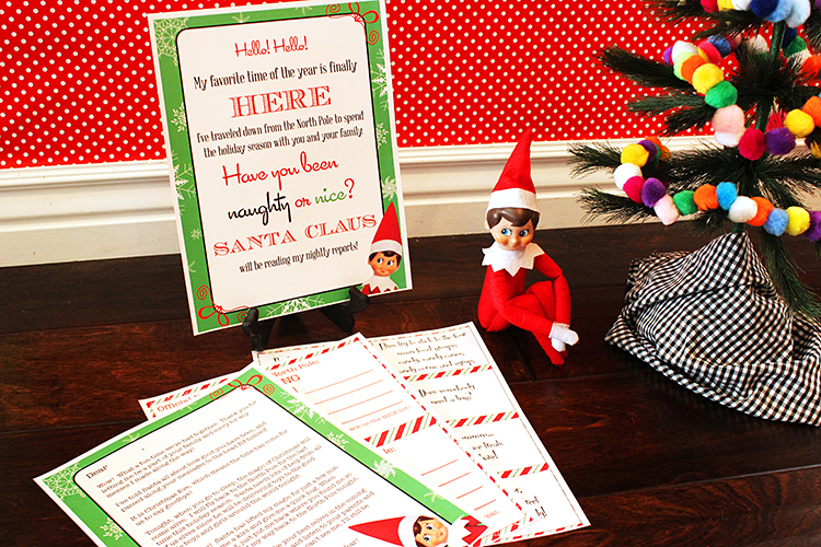 Elf On The Shelf printable pack. Super cute notes for your elf to leave each day.