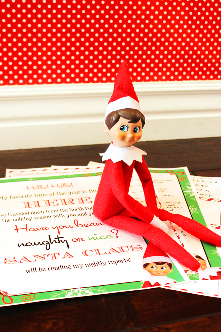 Elf On The Shelf with a cute printable pack your kids will love.