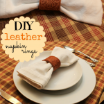 Add an unexpected touch to your table with these DIY leather napkin rings. They look fabulous and fancy, but are super easy to make.