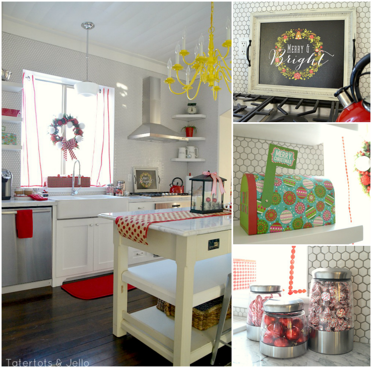 Tatertots & Jello's amazing holiday kitchen transformation for National Decorate Your Home For The Holidays Week With Big Lots