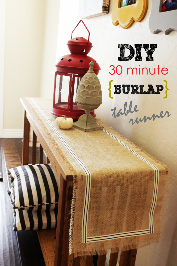 This DIY Burlap Table Runner will only take you 30 minutes to make. It is super cute, and perfect for autumn decorating.
