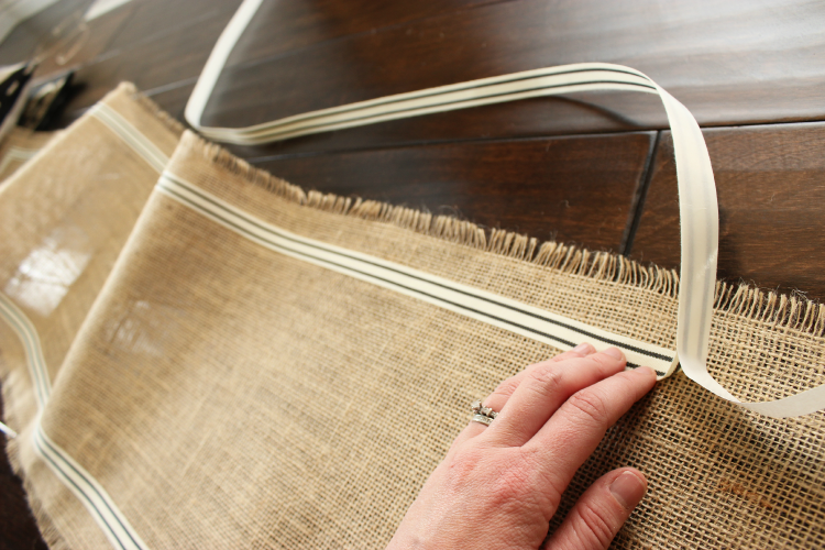 Add ribbon to all four sides of your table runner.