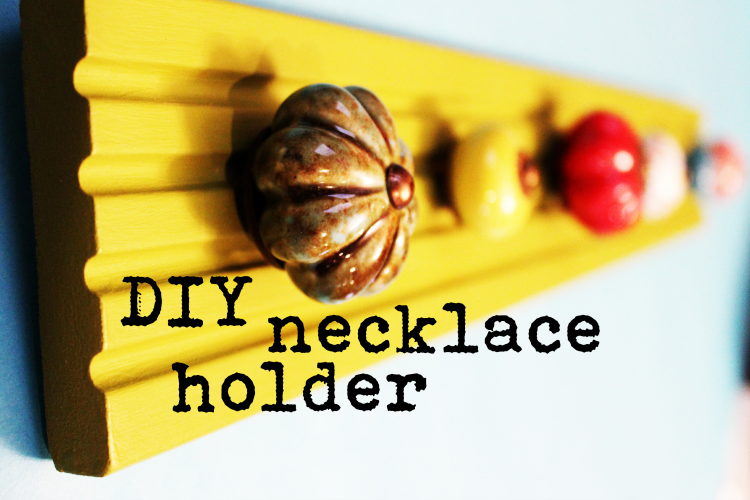 DIY Necklace Holder