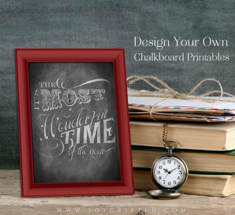 Learn how to design your own beautiful chalkboard printables using only the free features from PicMonkey.