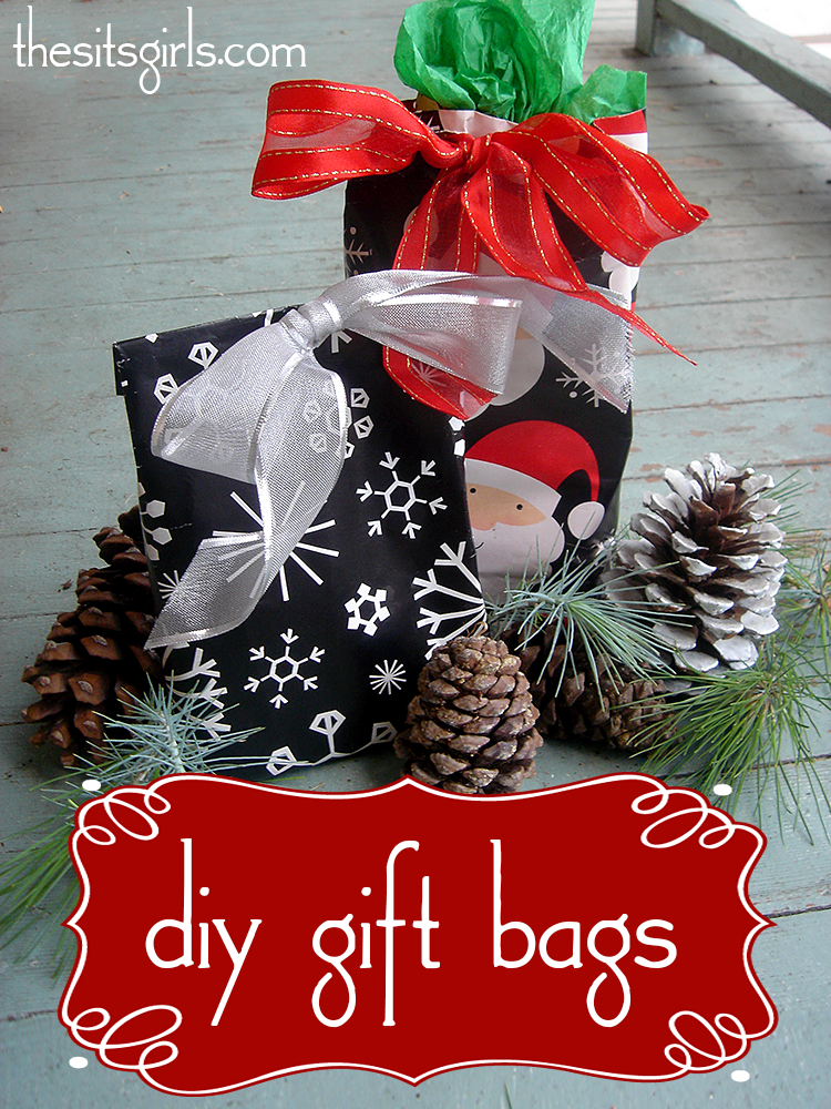 Make gift wrapping easier with these DIY gift bags for all of your oddly-shaped presents this year.