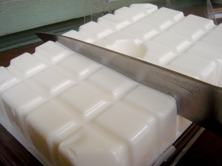 Cut your soap into cubes.