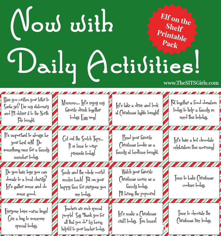 These Elf on the Shelf Printables will make your's kids elf experience extra fun, and the daily activity cards will make each day more magical.