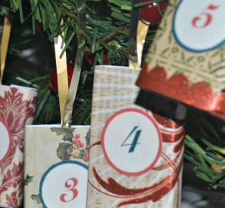 DIY Advent Calendar And Mantle Garland