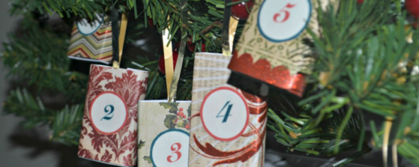 DIY Advent Calendar And Mantle Garland