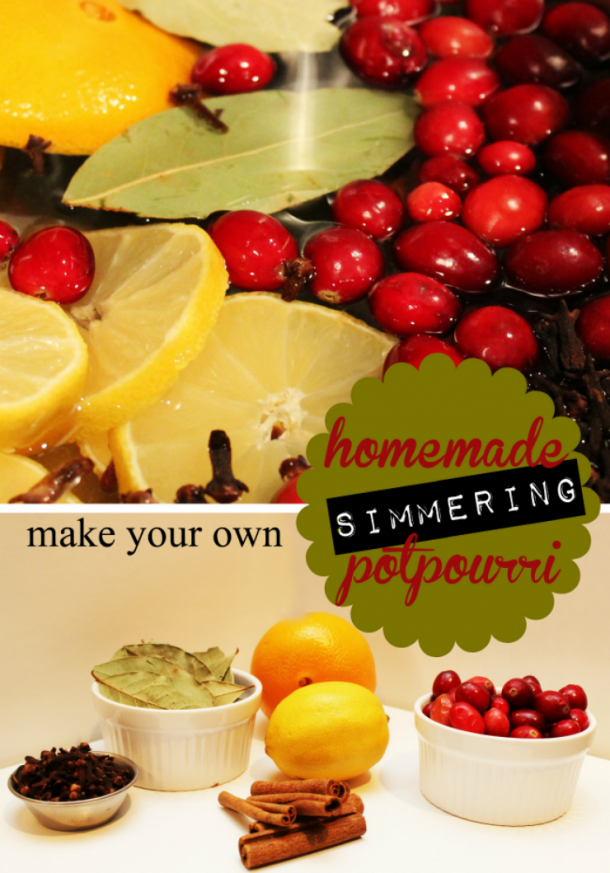 This simmering potpourri is simple to make, and will have your whole house smelling like a holiday.