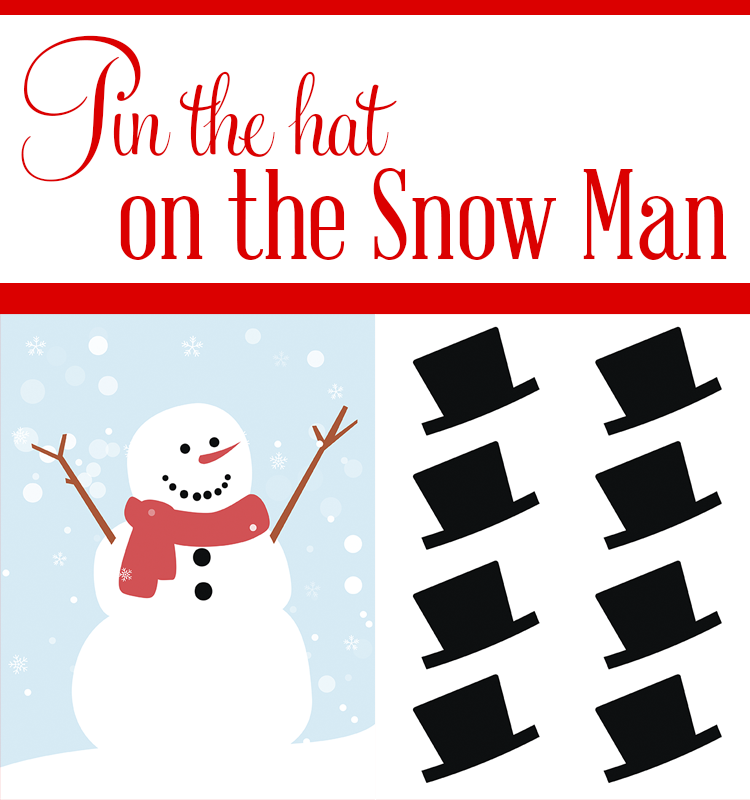 Pin The Hat On The Snowman will have the whole family laughing. You can use it throughout December, or have Santa leave it with his letter as an extra gift.