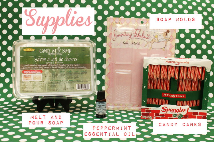 All the supplies you need for homemade peppermint soap.