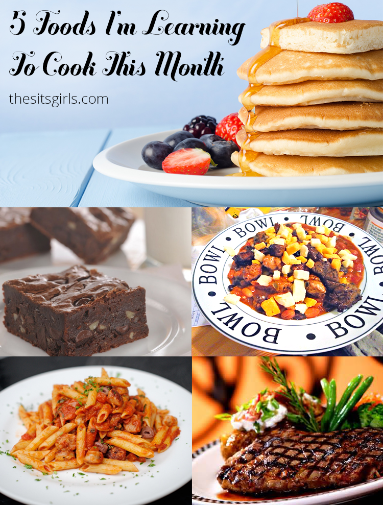 Great recipe ideas for five foods I want to learn how to cook this month.