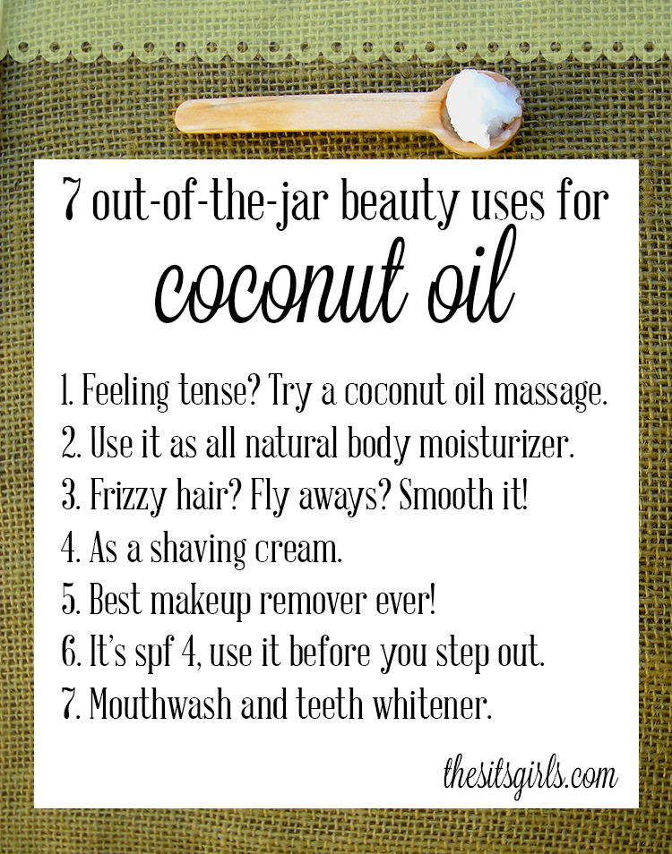 7 great uses for coconut oil, with more on the post. I'm excited to try using it as an energy boost!