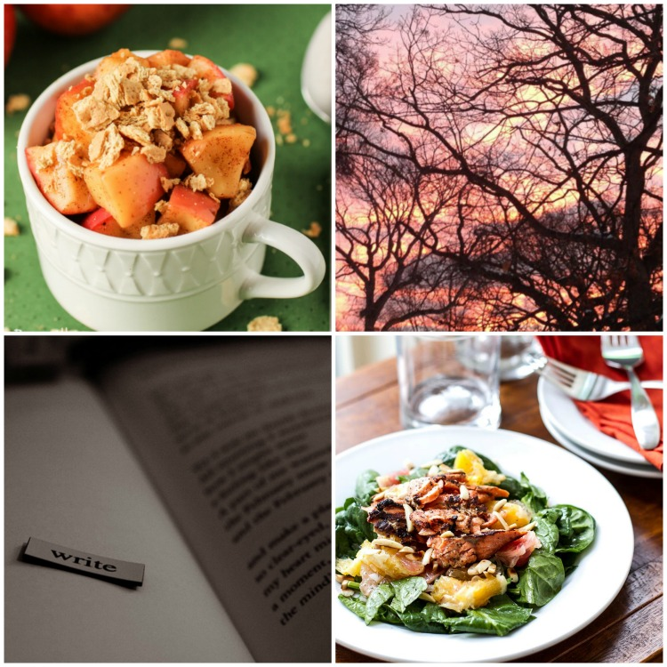 Great recipes and thoughts on writing from the SITSBlogging link up.