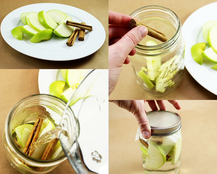 This apple cinnamon detox water is easy to make, and super yummy.