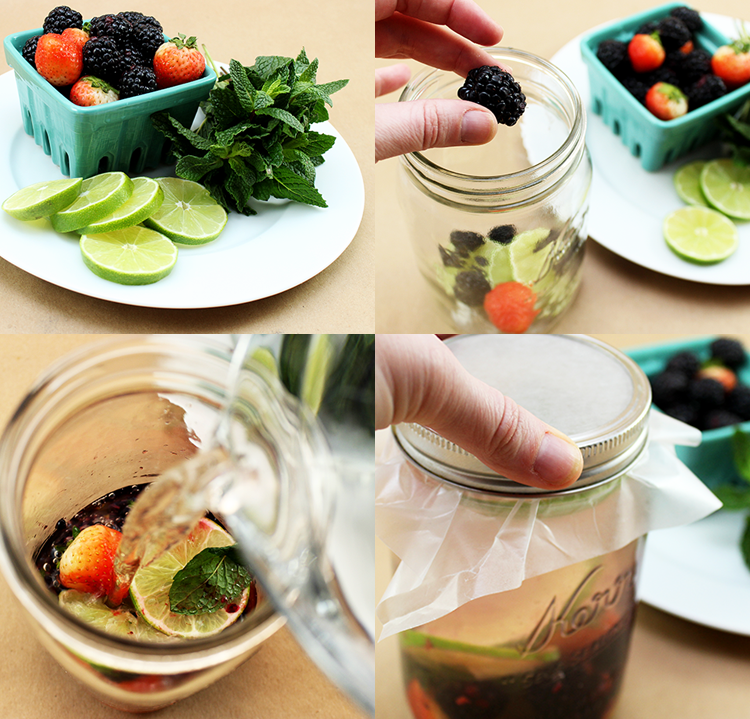 Berry, Lime, and Mint Detox Water