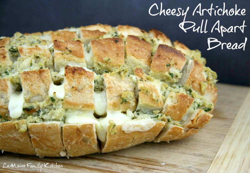Cheesy Artichoke Pull-Apart Bread