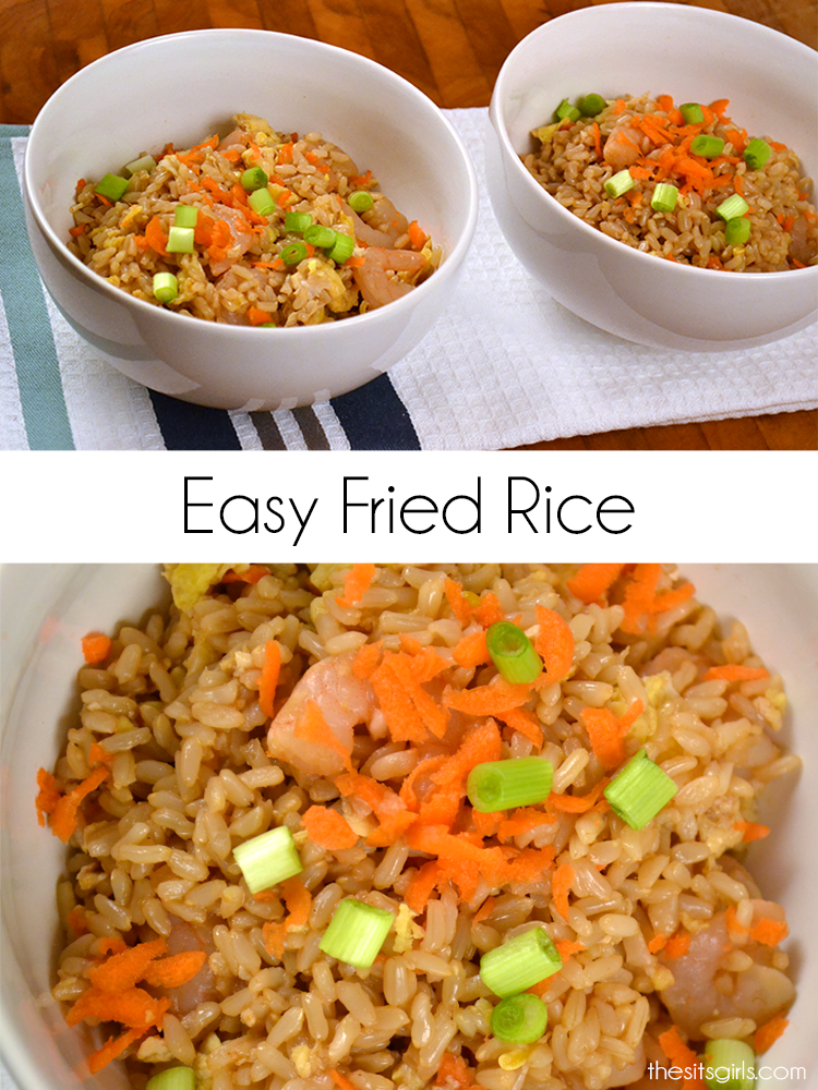 This easy fried rice couldn't be easier to make.