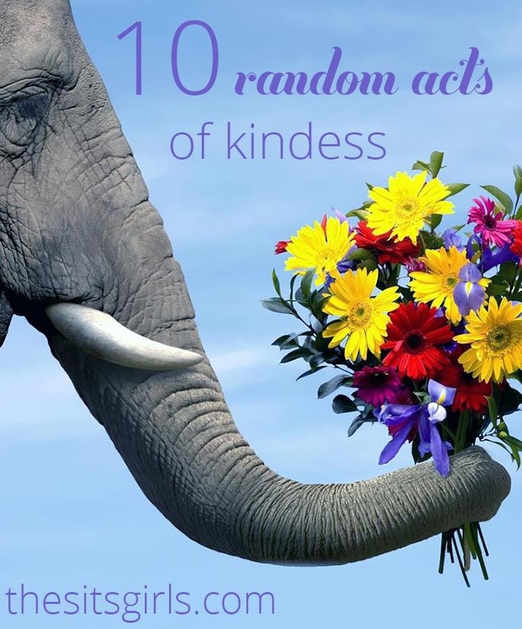10 ideas for random acts of kindness you can offer to those around you. Most cost little or no money.
