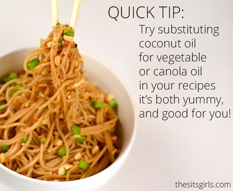 Coconut oil is a great substitute in these Easy Asian Noodles