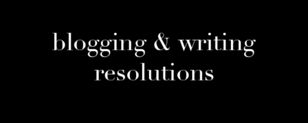 Writing resolutions to inspire