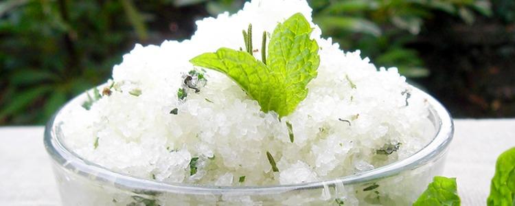 DIY Coconut Oil Salt Scrub Recipe