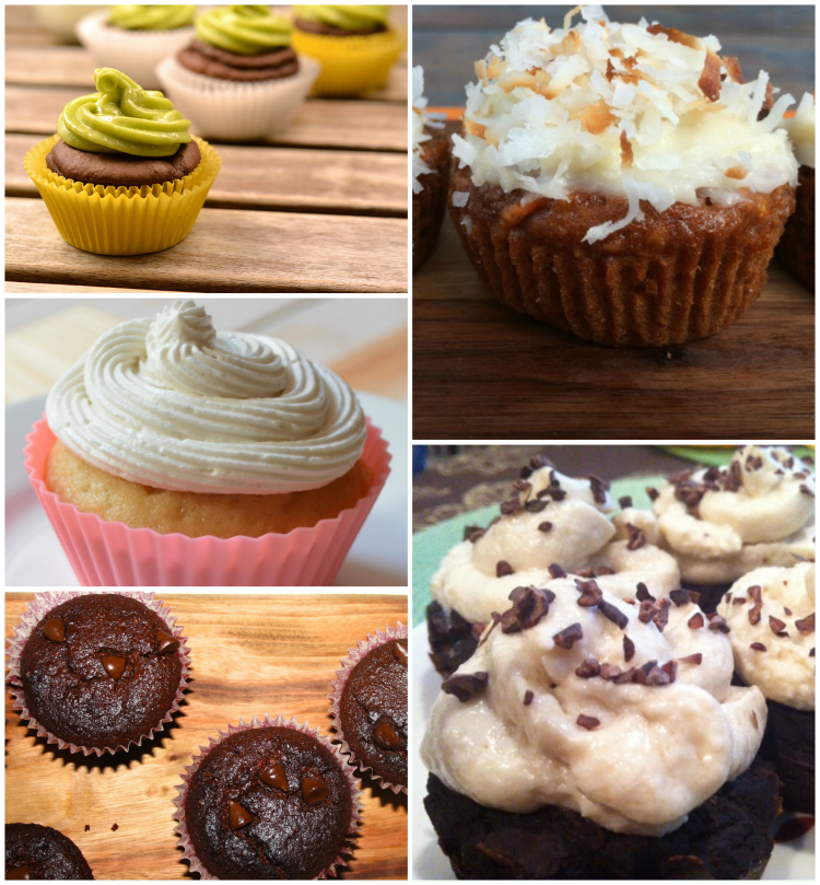 5 skinny cupcake recipes with healthy ingredients.
