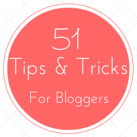 Tips and Tricks for Bloggers