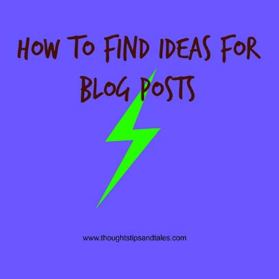 Ideas for Blog Posts