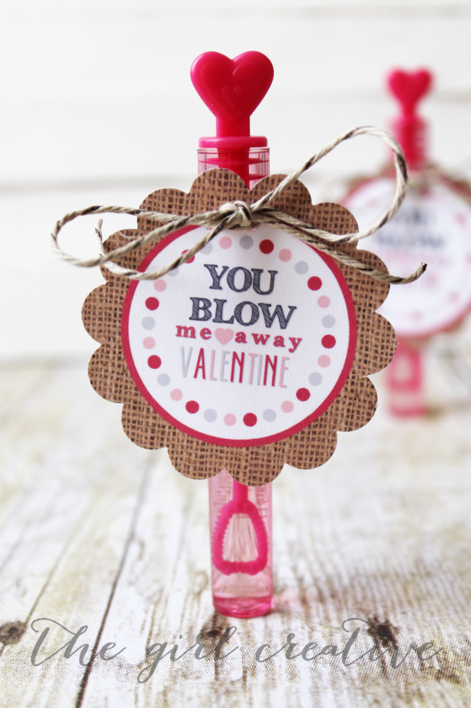 Bubbles Valentine with cute printable tag.