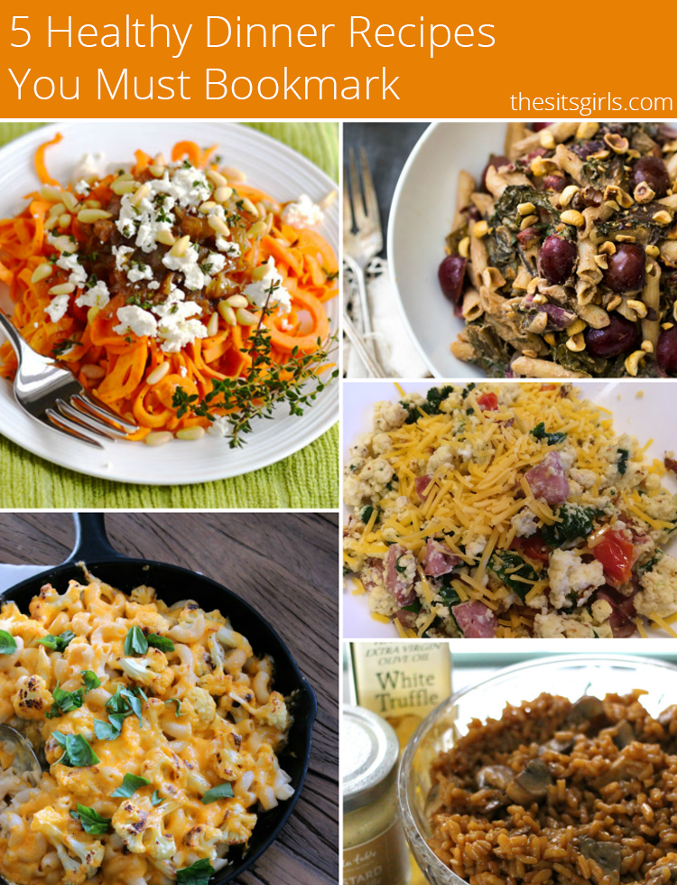 If you need some new dinner ideas, you'll want to pin this! We've collected five of our favorite healthy dinner recipes. From gluten free and vegetarian to a remix of a classic comfort food, there is something here that everyone in your family will love.
