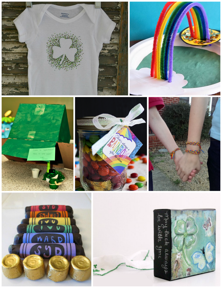 7 easy to make St Patricks Day crafts to wear, eat,  create with your kids, or use in your holiday home decor.
