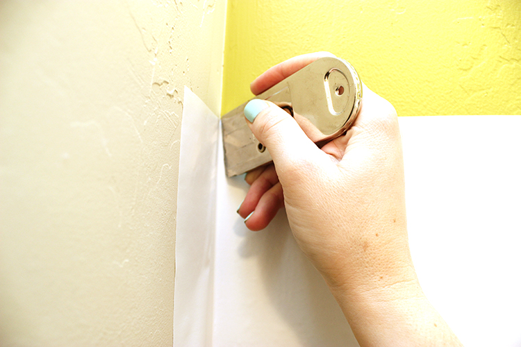 Trim the ends of your contact paper with a sharp knife.