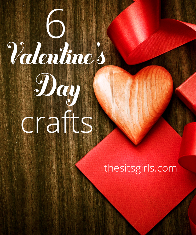 6 easy to make Valentine's Day crafts you can make for your loved ones. Includes super cute tutorial on a Valentine mailbox.