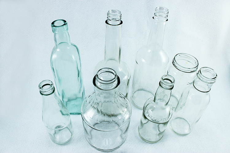 Glass bottles are the perfect size for bud vases.