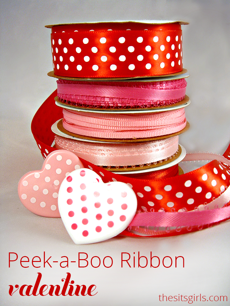 Ribbon, card stock, and a little glue is all you need to make your own Valentines.