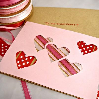 Peek-A-Boo Ribbon Valentine