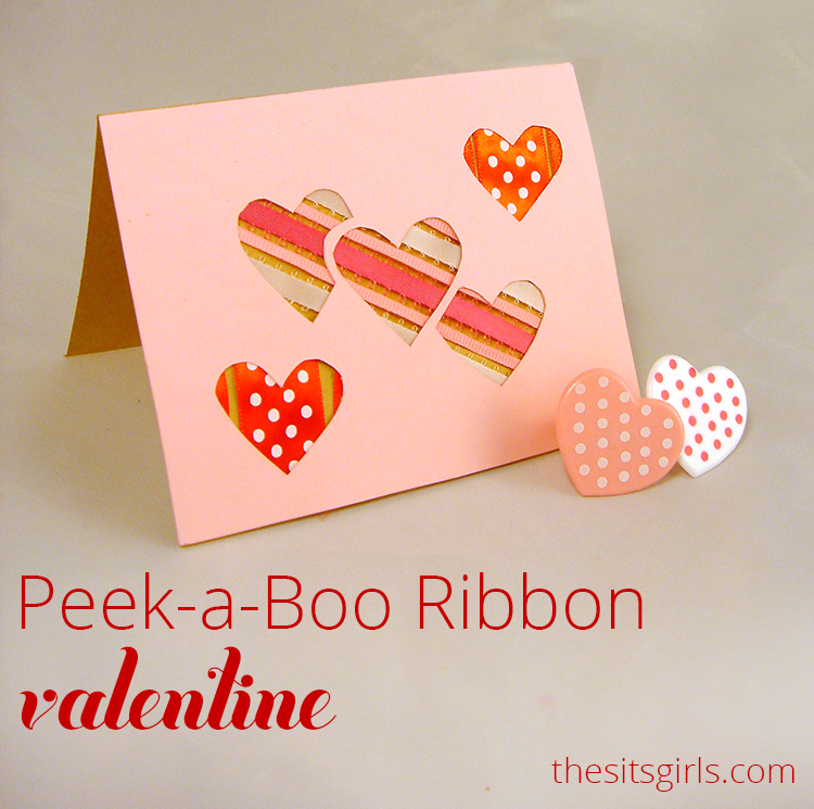This peek-a-boo ribbon valentine is the perfect gift, and it only takes minutes to make.