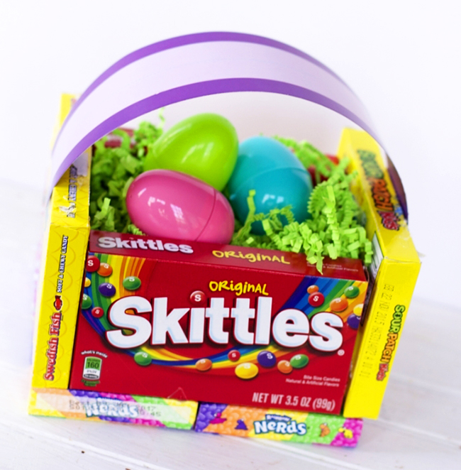 Diy candy easter basket diy teacher appreciation basket this candy basket is a great gift you can make it yourself for less than negle Image collections