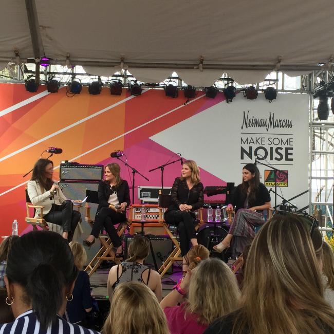 Jenna Bush Hager, Shiza Shahid, Dyllan McGee, and Katherine Keating speaking at Make Some Noise SXSW 2015