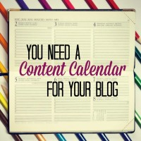 content calendar for your blog