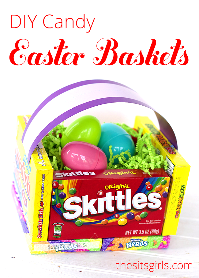 Diy candy easter basket diy teacher appreciation basket this cute diy candy easter basket makes a cute gift for less than 10 negle Image collections