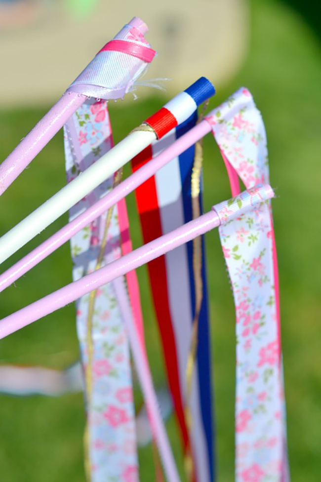 DIY Dancing Ribbon Wands are a great homemade toy for kids. A few simple steps to create, and they will provide hours of outdoor fun!