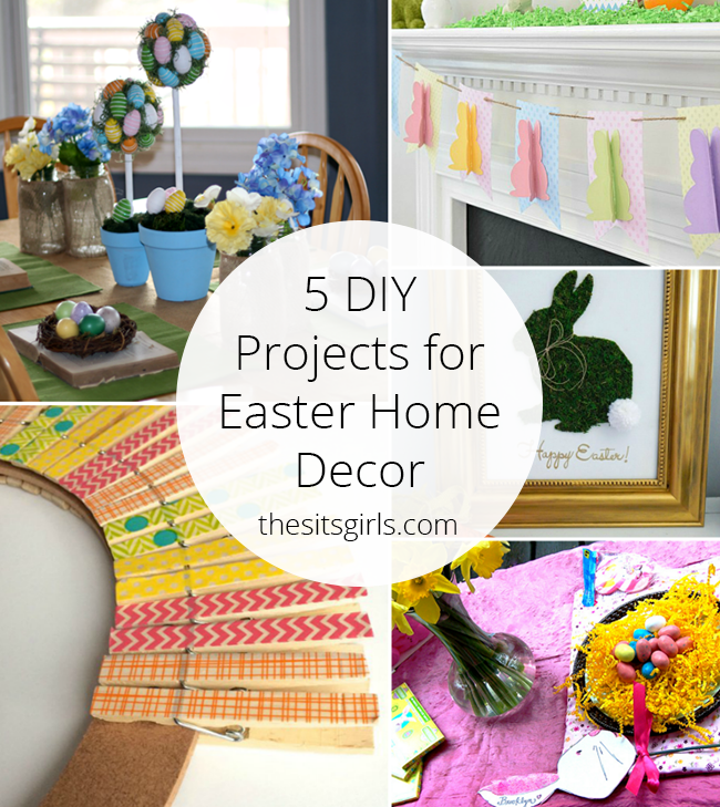 5 diy projects for easter home decor for Diy easter decorations home