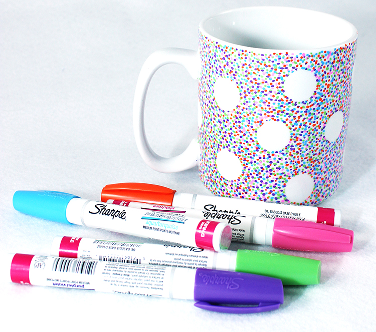 Diy Sharpie Mug Polka Dot Mug