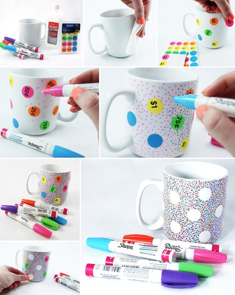 Step by step guide to making a DIY Sharpie mug. If you follow the tips and instructions in this post exactly, your design will last for a long time!